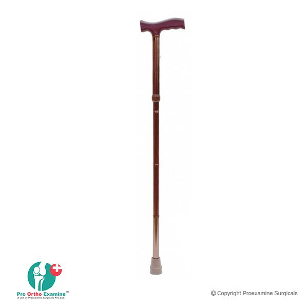 Folding Walking Stick, Adjustable, Aluminium